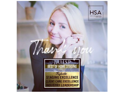 Paloma Harrington-Griffin is a Triple-Threat in the IAHSP® Best of Home Staging Awards 2020