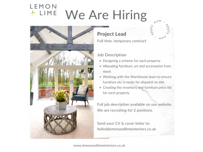 Lemon and Lime Interiors is Hiring!