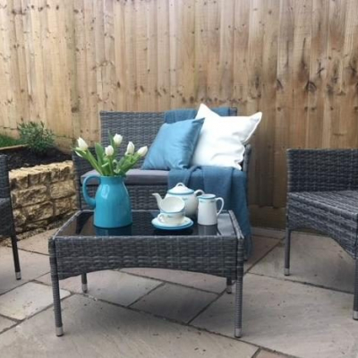 Patio Styling for an estate agent's open day